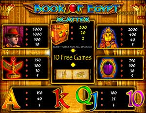 игровой автомат Book of Egypt онлайн